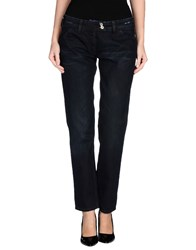 Moschino Jeans Denim Denim Trousers Women Blue