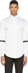 Pyer Moss White Oxford Leather Armband Shirt