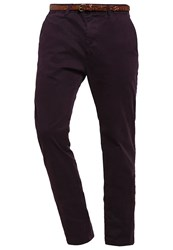 Scotch And Soda Chinos Plum Purple