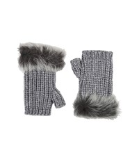 Ugg Crochet Gloves W Lurex Sequins Toscana Trim Steel Heather Multi Extreme Cold Weather Gloves White