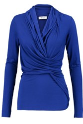 Bailey 44 Twisted Stretch Jersey Top Royal Blue