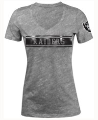 5Th And Ocean Women's Oakland Raiders Touchback Le T Shirt Gray