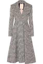 Roksanda Ilincic Fairleigh Tweed Coat Black