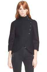 Women's Marc By Marc Jacobs Bonded Wool Blend Mini Military Jacket