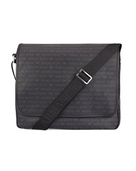 Armani Jeans Black Aj Logo Flap Messenger Bag