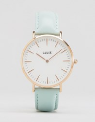 Cluse La Boh Me Rose Gold And Mint Leather Watch Cl18021 Gold