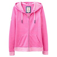 Joules Adriana Zip Through Hoodie Neon Candy Stripe