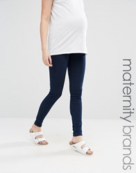 Mama Licious Mamalicious Under The Bump Skinny Jeans Blue