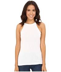 Michael Stars Slub Halter Tank Top White Women's Sleeveless