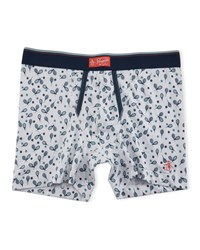 Penguin Tennis Racket Printed Boxers White Blue