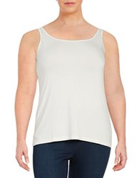 Lord And Taylor Plus Iconic Slimming Tank Ivory