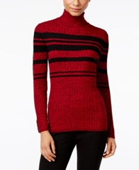 Styleandco. Style Co. Petite Striped Turtleneck Sweater Only At Macy's New Red Amore Combo