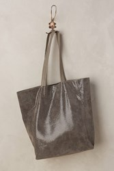 Anthropologie Kata Leather Tote Grey
