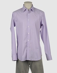 Bagutta Shirts Long Sleeve Shirts Men Light Purple