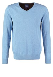 Tom Tailor Jumper Light Sunny Sky Melange Turquoise