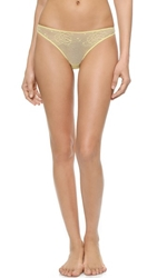Stella Mccartney Scarlett Weaving Thong Pale Lemon