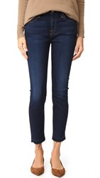 7 For All Mankind The Ankle Skinny Jeans Tranquil Blue