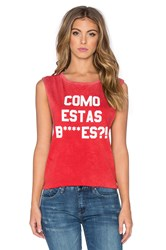 Tyler Jacobs Como Estas Cut Off Tank Red