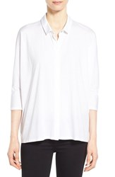 Petite Women's Eileen Fisher Organic Cotton Classic Collar Shirt