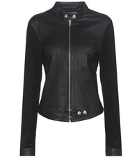 Calvin Klein Jeans Mytheresa.Com Exclusive Moto Leather And Suede Jacket Black