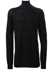 Rick Owens Fine Knit Fitted Sweater Black