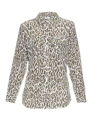Equipment Signature Cheetah Print Silk Shirt