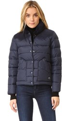 Penfield Rockwool Suede Yoke Down Jacket Navy