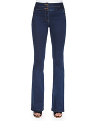 Veronica Beard High Waist Flared Denim Pants