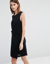 Selected Brenda Sleeveless Dress In Jersey Black