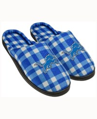Forever Collectibles Detroit Lions Flannel Slide Slippers Blue