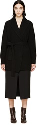Rosetta Getty Black Shawl Collar Wrap Cardigan