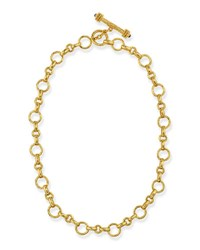 Elizabeth Locke Siena Gold 19K Link Necklace 17 L