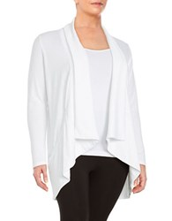 Marc New York Performance Open Front Knit Cardigan White