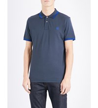 Paul Smith Ps By Slim Fit Cotton Pique Polo Shirt Elephant