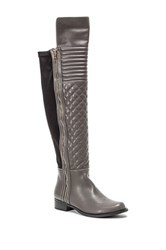 French Blu Emma Over The Knee Boot Gray
