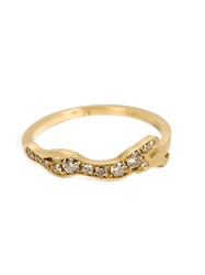 Marc Alary Diamond 'Cheetah Cycle' Ring Metallic