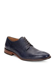 Cole Haan Williams Leather Lace Up Dress Shoes Blazer Blue