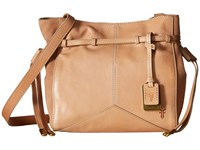 Frye Sophie Crossbody Natural Veg Calf Leather Cross Body Handbags Taupe