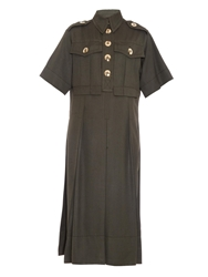 Marc Jacobs Shantung Silk Military Dress