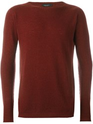 Roberto Collina Round Neck Pullover Red