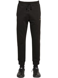 Love Moschino Logo Embroidered Cotton Jogging Pants