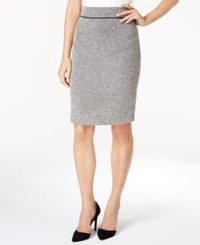 Kasper Tweed Pencil Skirt Heather Gray