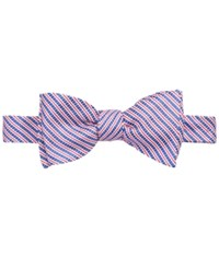 Brooks Brothers Men's Seersucker Striped To Tie Bow Tie Blue