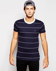 French Connection Thin Stripe T Shirt White