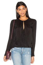 Maven West Surplice Key Hole Front Top Black