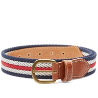 Barbour Tri Webbing Belt Blue