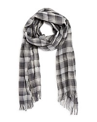 John Varvatos Star Usa Plaid Scarf Loden