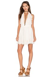 Loveshackfancy Halter Mini Dress Ivory