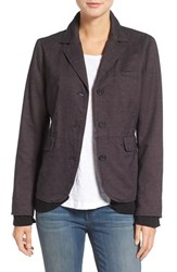 Hinge Women's Layered Look Woven Cotton Blazer