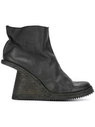 Guidi Baby Wedge Boots Black